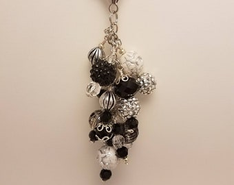 Black and White Purse Charm