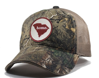 Homeland Tees South Carolina Home State Realtree Camo Trucker Hat
