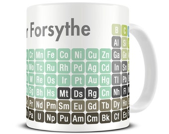 Science Gifts - Chemistry Mug - Personalized 2017 Periodic Table of Chemical Elements Mug - Periodic Table Mug - Gifts for Scientists  MG096