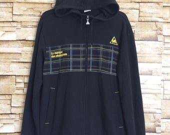Le coq sportif hoodie sweater black color zip up