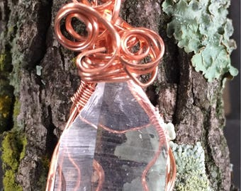 Beautiful Quartz Crystal Wrapped in Copper Pendant ~ All Chakra ~ Raise Vibration ~ Protects from Negative Energy