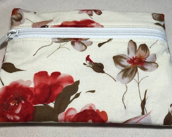 Small Notions Pouch - Poppy Flowers