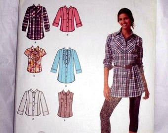 SIMPLICITY 2447 EASY to SEW  blouse pattern - Sizes 16-24
