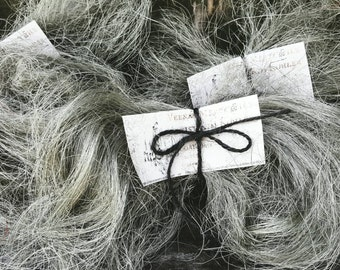 Primitive Santa Beard Wicked Witch Hair Fiber Natural Gray Silver Grey Halloween Embellishment Supply Craft Kim Kohler Veenas Mercantile