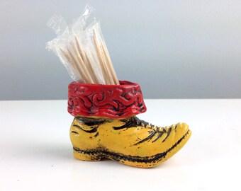 Cute Little Cowboy Boot Toothpick Holder