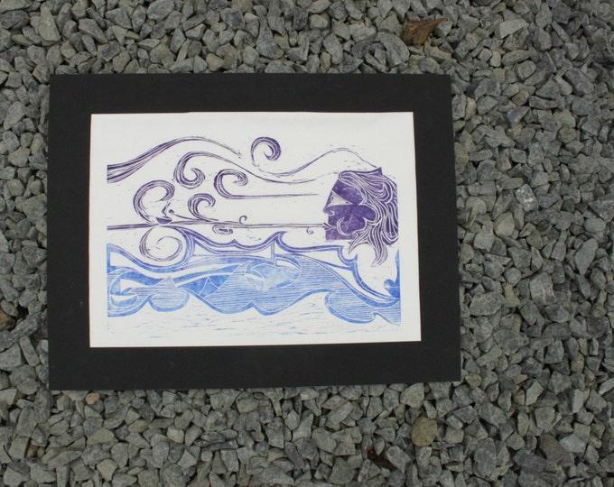 Windy Woman Print