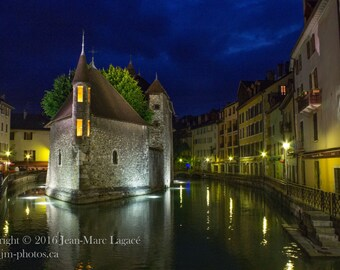 Annecy by Night - Fine Art Photography