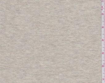 Oatmeal Heather Rayon T Shirt Knit, Fabric By The Yard
