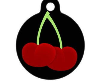 Pet ID Tag - Cherries Pet Tag, Dog Tag, Cat Tag