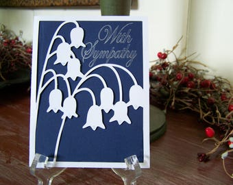Sympathy Blue & White Lilly of the valley greeting card