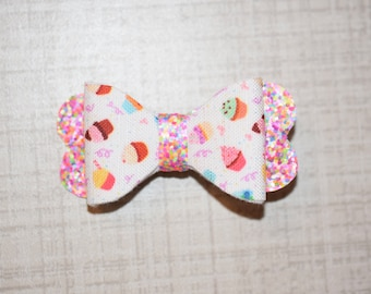 Mix Glittered Cupcake Bow