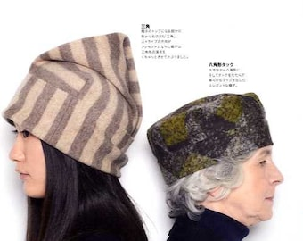 Let's Make Hats with Square Fabric - Japanese Craft Book