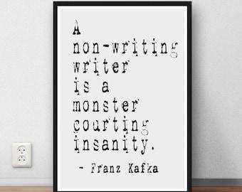 Franz Kafka  quote  Art poster print poster gift writer writing