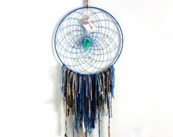 Dreamcatcher | big, petrol, wall hanging, handmade