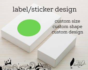 Custom Sticker, Custom Party Sticker, Business Sticker, Logo Sticker, Business Label, Custom Label, Sticker Design, Label Design
