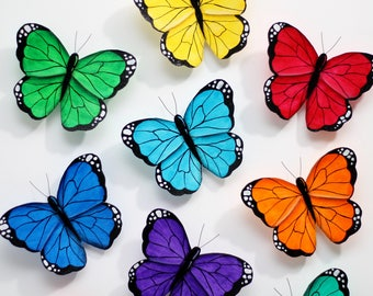 Butterfly wall ; Butterfly wall art; Rainbow butterflies; 3d butterfly ; Butterfly decor; Nursery decor; Butterfly decoration; 3d wall art