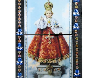 Catholic altar, Infant Jesus of Prague, Child Jesus, religious artwork, catholic shrine, religious altar, Catholic art, Infant of Prague