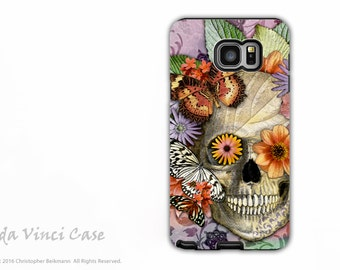Butterfly Skull Galaxy Note 5 Case - Premium Dual Layer Galaxy Note Case with Sugar Skull Art - Butterfly Botaniskull - Galaxy Note 5 Cover