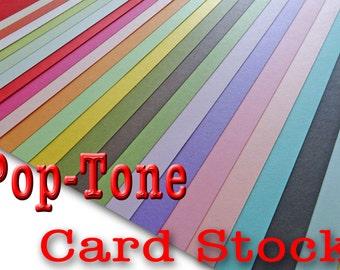 POP TONE 65 lb cardstock 8.5 x 11 -  25 sheets