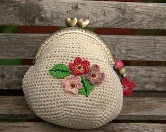 Purse crocheted pastel color (No.2)