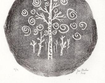 Birtch Trees | Original Art | Hand Pulled Print