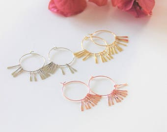 Darling Fringe Hoop Earrings - Available in Gold, Silver & Copper