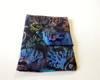 Blue Tropical Fish Batik Kindle Touch/ Nook Simple Touch/Paperwhite  Cover