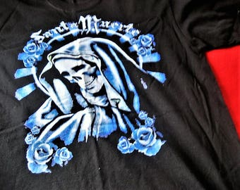 Santa Muerte T-Shirt (Blue = Peace) Only 2 Available!