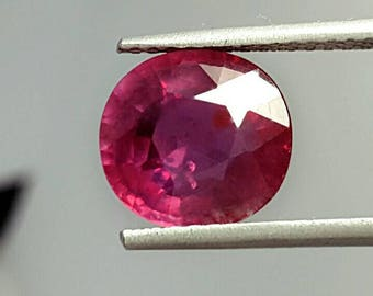 Natural Purpulish Red ruby 6.90 ct from Mozambique