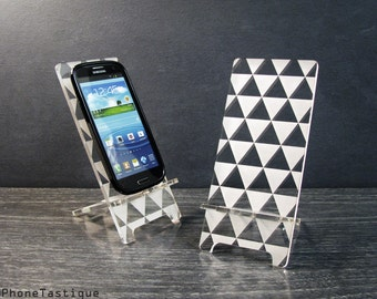 Samsung Galaxy Dock S5 S4 S3 Android Acrylic Smart Phone Stand Docking Station Triangle Art