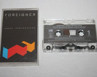 Vintage Cassette Tape, Foreigner, Agent Provocateur, 1984, Atlantic Recording
