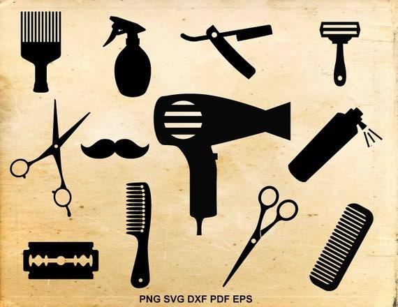 Hairdresser Svg Barber Tools Silhouette Hair Salon Hair