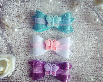 Set of 3 butterfly bows