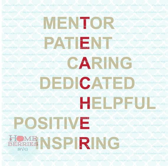 Profesor apreciación acróstico poema Mentor paciente cuidado