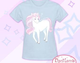 Kawaii Unicorn Shirt Fairy Kei Pastel Unicorn T-Shirt Pastel Goth Size S Through 2XL