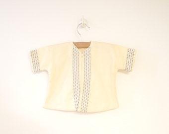 Vintage Baby Clothes, 1940's I. Magnin Cream Wool Baby Crib Coat and Bonnet Set, Vintage Baby Coat, Cream Baby Coat, Size 6-9 Months