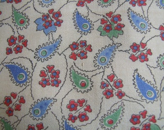 silk, ditsy, floral silk, 1940's fabric, 1950's, 1930's, abstract, dressmaking fabric,