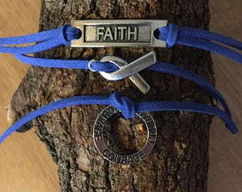 Colon Cancer Courage Bracelet