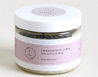 Lavender Body Scrub- Body Scrub-Salt Scrubs-Body Salt Scrub-Natural Salt Scrubs- Exfoliator Scrub -Body Exfoliators - Sectet Santa Gift