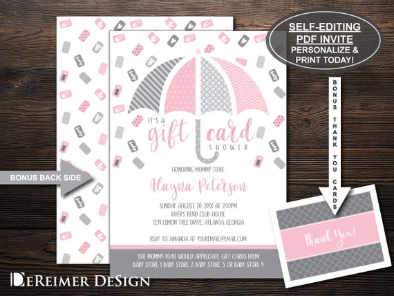 gift card shower invitation gift card baby shower baby