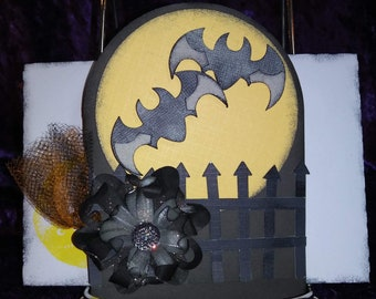 Handmade Halloween greeting card