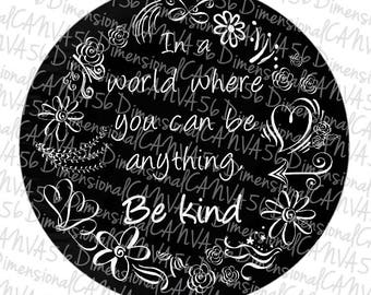 Floral spring V.2  'be kind' jeep tire cover