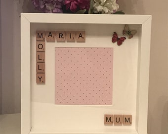 Mother's Day scrabble letter BoxFrame