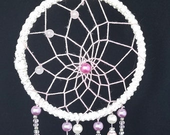Cream&Pink Little Bow Peep Dreamcatcher