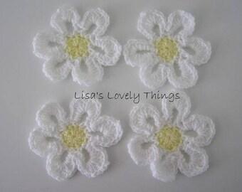 Crochet Daisy Coasters - Set of 4