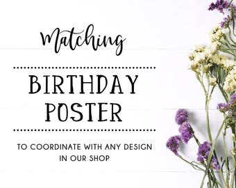 Made-to-Match BIRTHDAY POSTER
