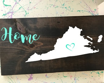 Virginia Home Plaque
