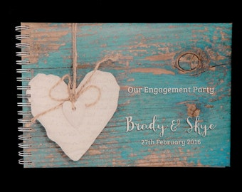 Personalised Guest book Rustic/Vintage A5 size