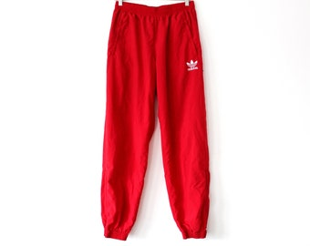 90 ' s Adidas pantalon rouge Trefoil Adidas coupe-vent Adidas Rare Running  Jogging salle