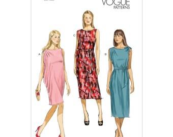 Vogue V8898 Size 16-26 Misses Dress and Belt Sewing Pattern / Uncut/FF